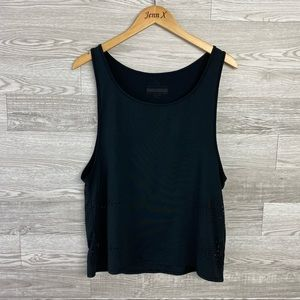 Treads4thought Black Recycled Fabric Athletic Tank